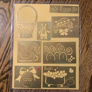 8 brass Embossing Templates by Lasting Impressions
